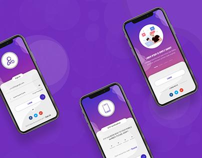 Mobile app Login & Signup UI