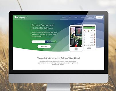 Agri Mobile Support Platform Website Design