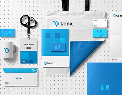 Tenx Brand Identity Design.