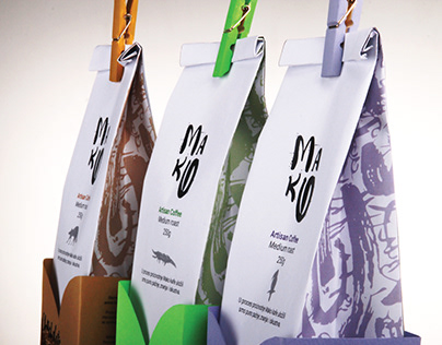 Mako Coffee Packaging Design
