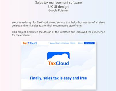 UX UI Design for TaxCloud - Google Polymer