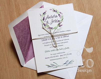 Illustrations for wedding stationery
