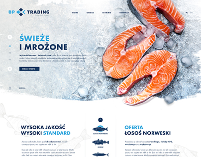 Webdesign for fresh and frozen fishes company