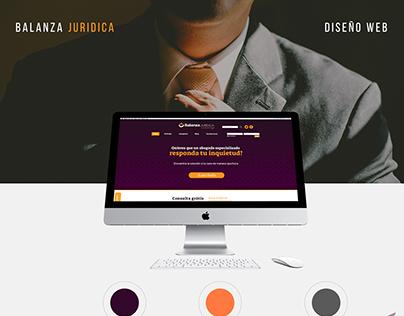 Diseño Web, Balanza juridica
