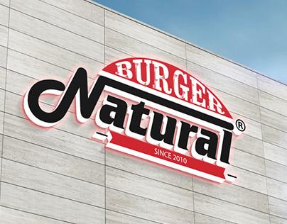 natural burger branding