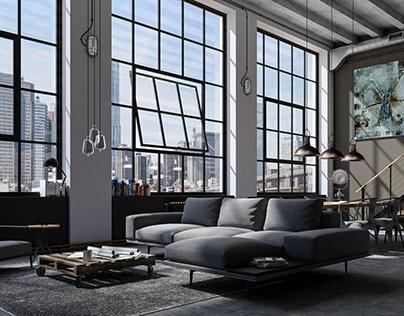 Industrial LOFT Apartment / Interior Design & VR