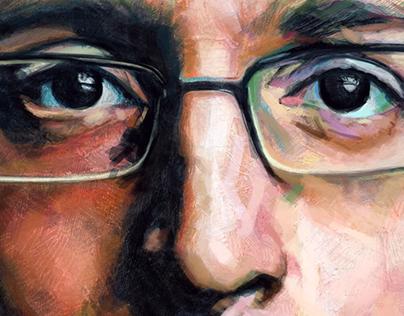 Snowden Book Illustration