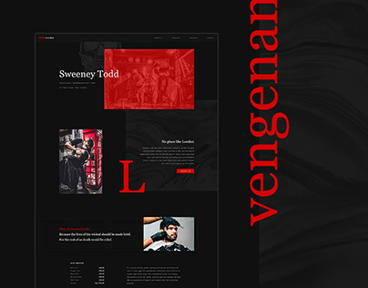 Sweeney TODD Barbershop Website Concept