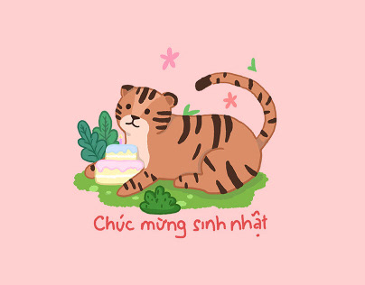 Vietnamese zodiac Birthday Chat sticker pack