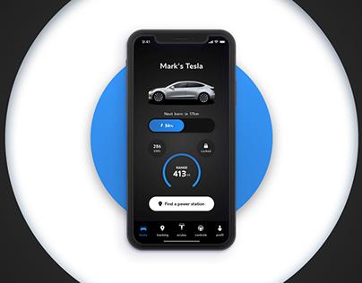 Tesla x Oculus - concept design app