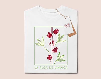 La flor de jamaica - Surface print