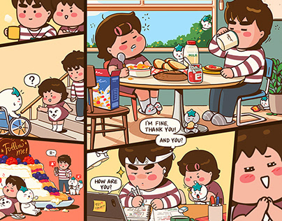 KEB Hana Bank X CarryGrow, Web Comics