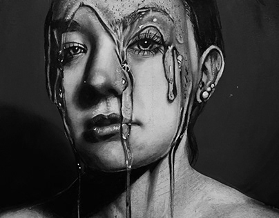 Realism- charcoal portrait