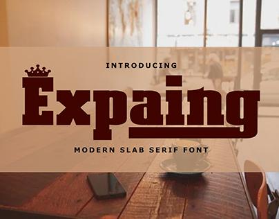 Expaing | Modern Slab Serif Font