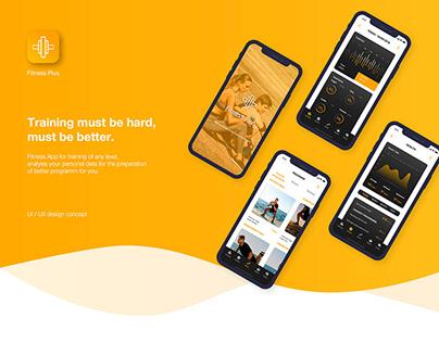 Fitness Plus - Mobile App (UX/UI)