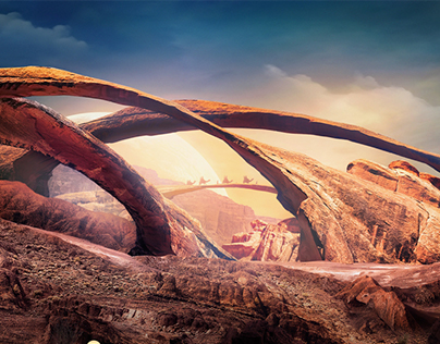 The Valley of Paths | Desktopography 2015