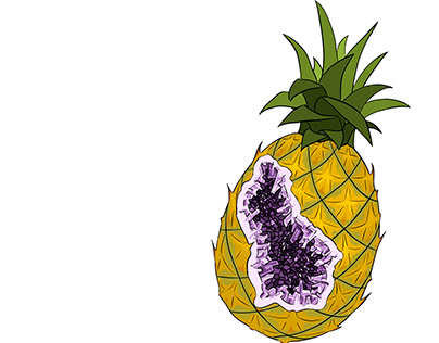 What's inside the ananas?