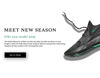 Nike shoes advertising web design