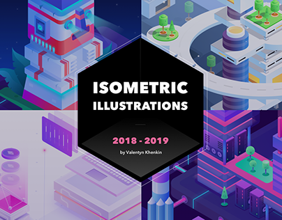 Isometric Illustrations Set