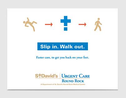 St. David's Urgent Care promotional pieces