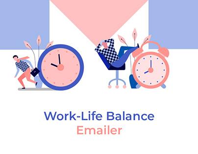Work Life Balance Emailer design for Flipkart