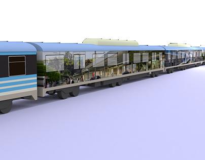 Ploteo de tren Línea Mitre. (Viaducto)