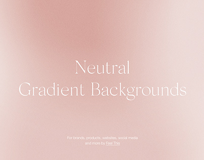 Neutral Beige Gradient Backgrounds With Grain Texture