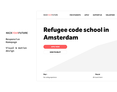HackYourFuture —Responsive Homepage