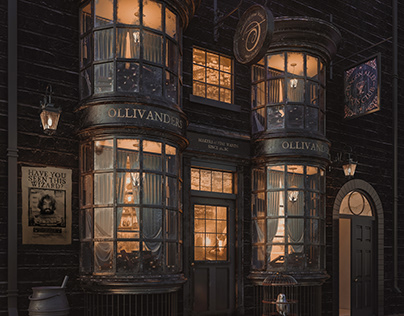 "OLLIVANDERS - ""The Wand Shop""-NightShot"