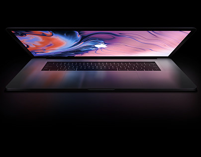 Fully Layered Macbook Pro 2019 Free Mockup