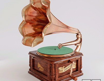 The Disc Graphophone (1910) - Created with Blender 3D