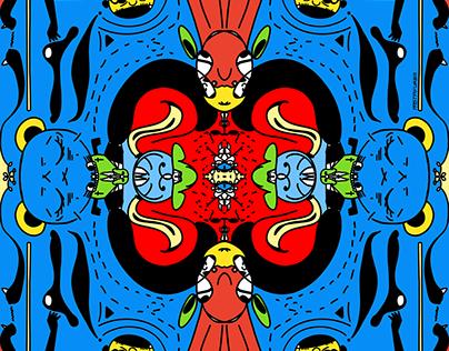 Symmetric Doodle Series from pastafurba
