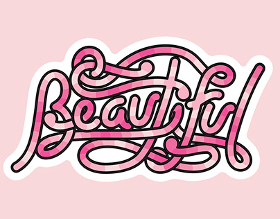 Typographic Stickers (girls age 12-18)