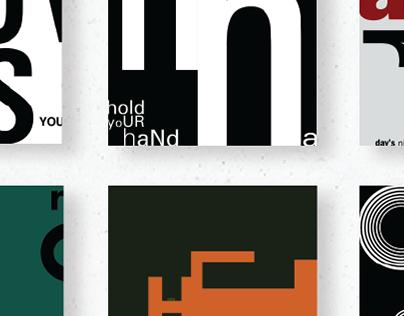 The Beatles typography album