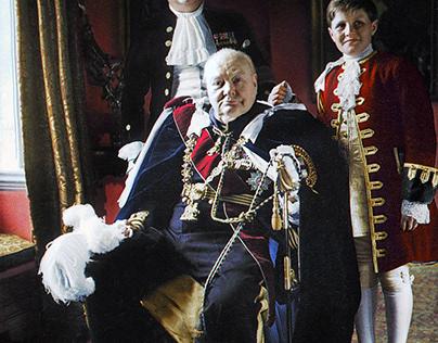 Churchill, his son Randolph and grandson Winston, 1953.