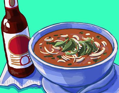 Food & Drink 02: Noodle soup, beer