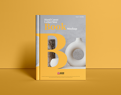 Free Hard Cover Letter Size Book Mockup