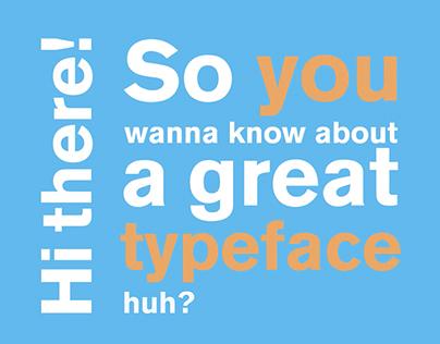 Akzidenz Grotesk kinetic typography video