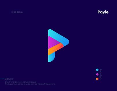 P Modern letter logo | Payment method logo | P letter