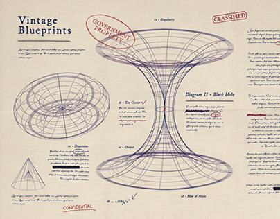 Vintage Blueprint Set