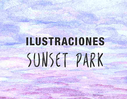 "Ilustraciones ""Sunset Park"""
