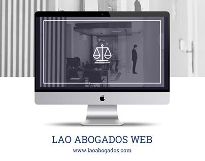 Lao Abogados - Web site