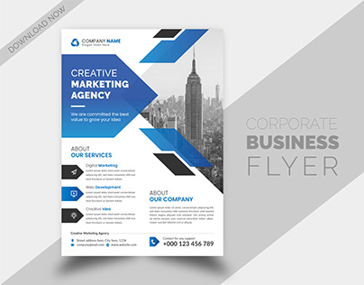 Corporate Business Flyer and Brochure Cover Design
