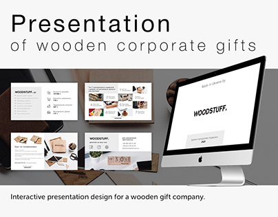 Presentation of wooden corporate gifts