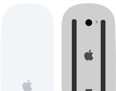 Apple Magic Mouse 2 Flat Design