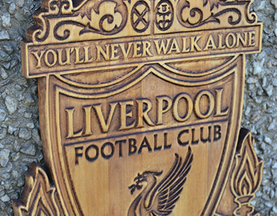 Wooden carved photos on Liverpool's admirer-Option 3