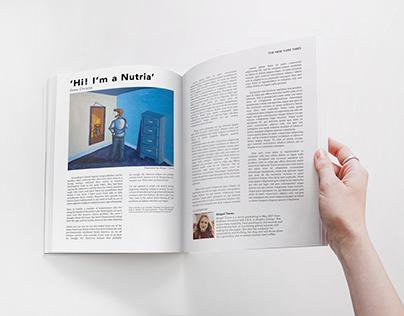 """Hi! I'm a Nutria"" Editorial Illustration"