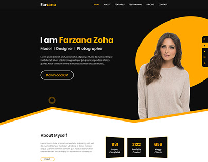 New Portfolio Template Design Project
