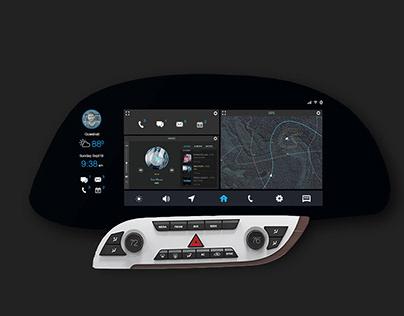 Driver Centric Car Dashboard