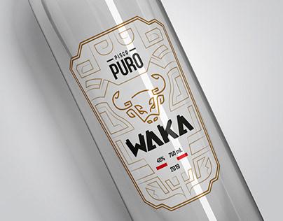 Pisco peruano WAKA